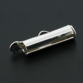Miyuki eindkapje 15mm zilver