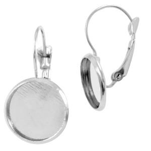 Oorbellen hanger zilver voor 12mm cabochon