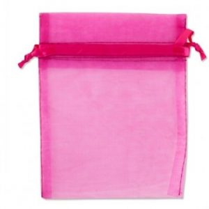 Organza zakje 10x16cm roze