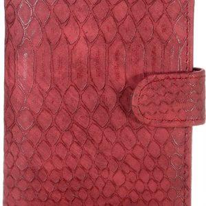 Paspoorthoesje croco donker rood