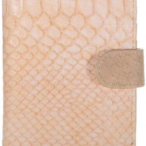 Paspoorthoesje croco zalm-roze