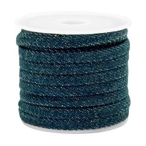 Plat koord 5mm denim dark royal blue