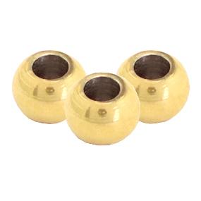 RVS kraal 5mm goud