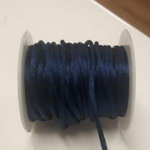 Satijnkoord 2mm blauw