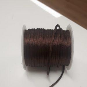 Satijnkoord 2mm donkerbruin