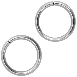 Stainless steel buigringen 6mm zilver