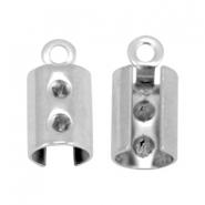 Stainless steel veterklem 9.5mm zilver