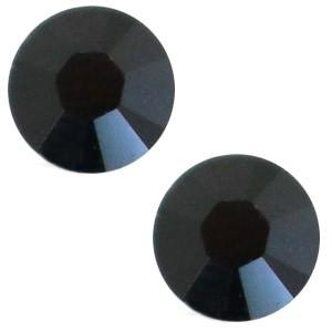 Swarovski steen 4.7mm jet zwart