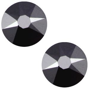 Swarovski steen 7mm jet hermatite black