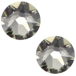 Swarovski steen 7mm zwart diamant