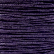 Waxkoord 1mm dark purple