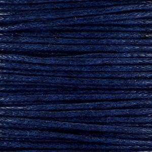 Waxkoord 1mm donkerblauw