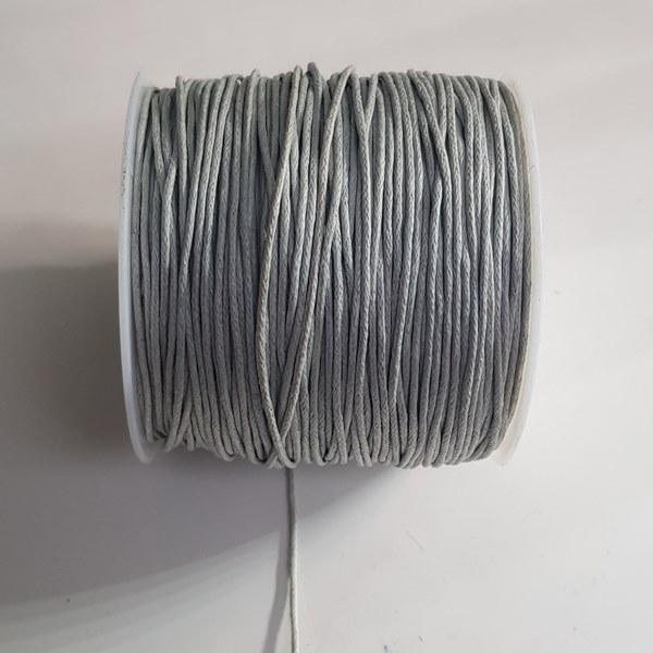 Waxkoord 1mm grijs