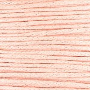 Waxkoord 1mm pastel peach