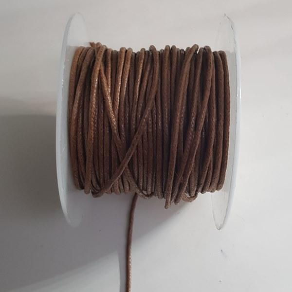 Waxkoord 2mm bruin