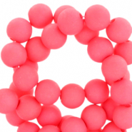 Acryl kralen 6mm hot coral pink