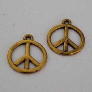 Bedel peace 17mm goud
