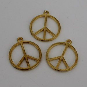 Bedel peace 23mm goud