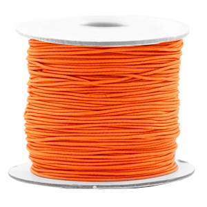 Elastiek 0.8mm vibrant orange