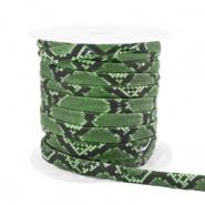 Elastisch Ibiza lint 4mm snake green
