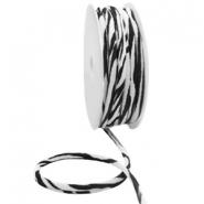 Elastisch Ibiza lint 5mm zebra