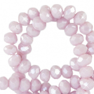 Facet kralen 4x3mm sweet lilac purple pearl shine