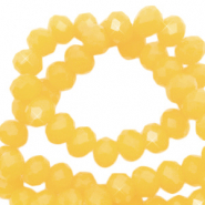 Facet kralen 6x4mm sunshine yellow pearl shine