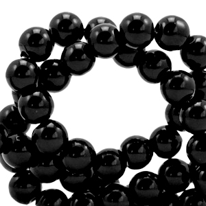Glaskralen 4mm opaque black