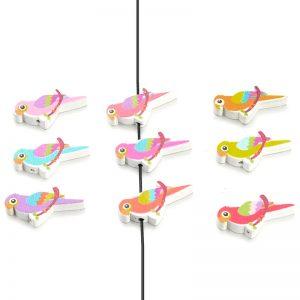 Houten kralen mix papegaai