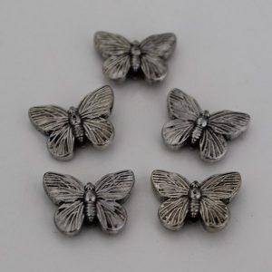 Kralen vlinder 2.0 zilver