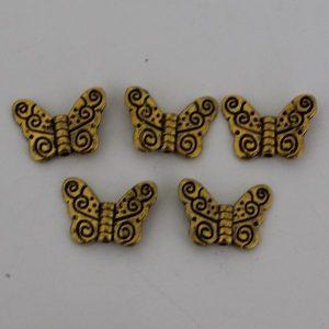 Kralen vlinder goud