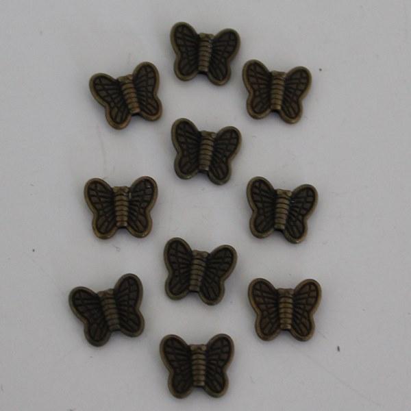 Kralen vlinder klein brons