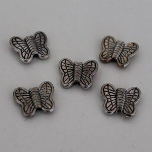 Kralen vlinder mini zilver