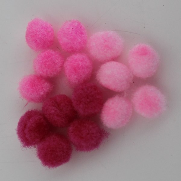 Pompoms 8mm mix roze