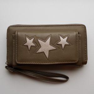 Portemonnee met voorvak sterren groen