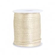 Satijn draad 1.5mm beige white