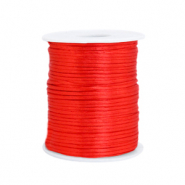 Satijn draad 1.5mm flame scarlet red