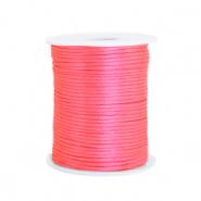 Satijn draad 1.5mm fluor pink