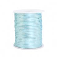 Satijn draad 1.5mm ice blue