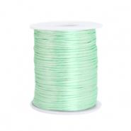 Satijn draad 1.5mm neo mint green