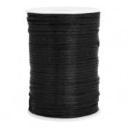 Satijn draad 2.5mm black