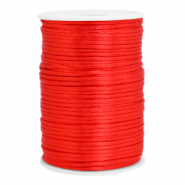 Satijn draad 2.5mm flame scarlet red