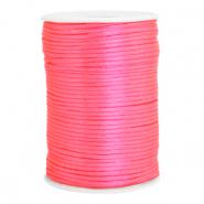 Satijn draad 2.5mm fluor pink