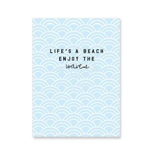 Sieradenkaartje life's a beach, enjoy the waves