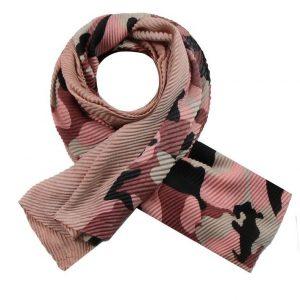 Sjaal legerprint roze