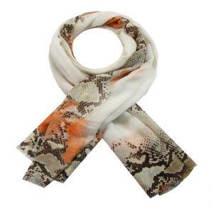Sjaal snake oranje