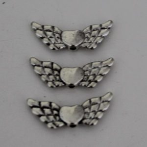 Vleugel hart zilver