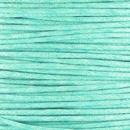 Waxkoord 1mm turquoise green