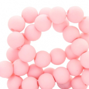 Acryl kralen 6mm matt seashell pink