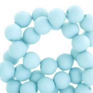Acryl kralen 6mm matt sky blue